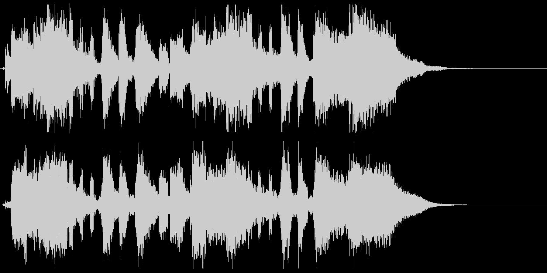 ポップ.キュート.ピアノと歌.ジングルの未再生の波形