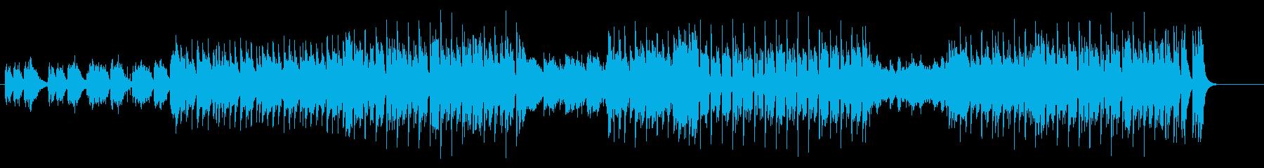 切迫感に満ちたエレクトリックミュージックの再生済みの波形