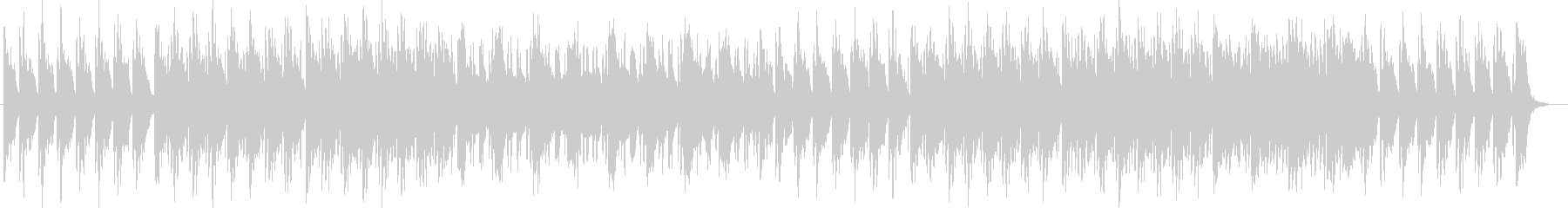 透明感のあるシンセサイザーサウンドの未再生の波形