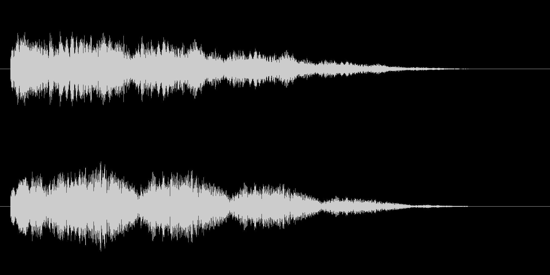 山びこのようなエコーのあるロゴ・ジングルの未再生の波形