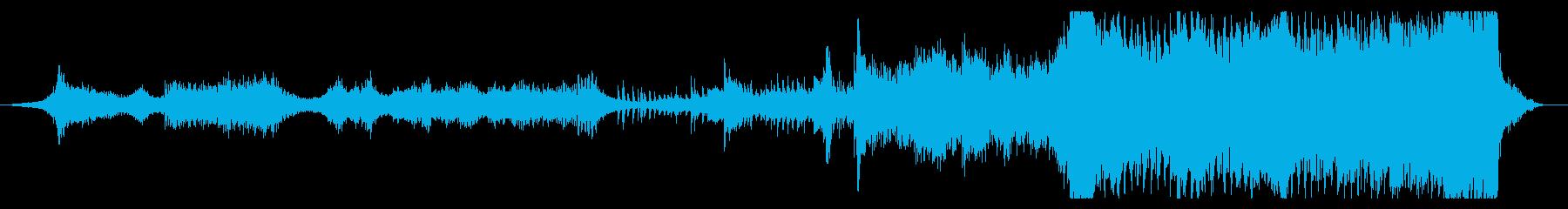 ハリウッド映画音楽風のシリアスな心理戦の再生済みの波形