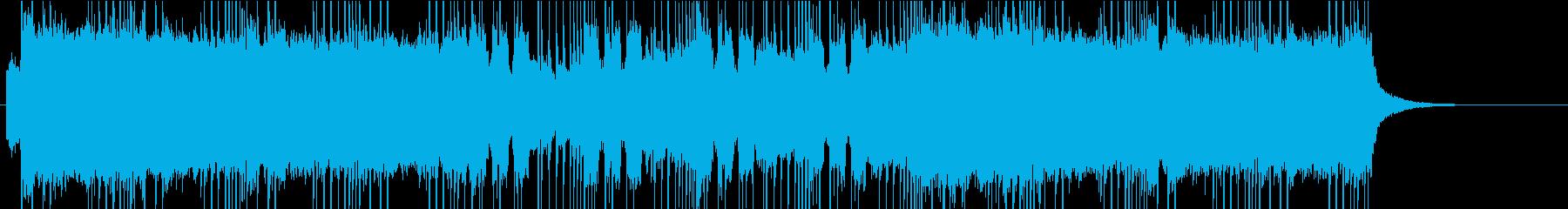 怒りのメタル風BGM1の再生済みの波形