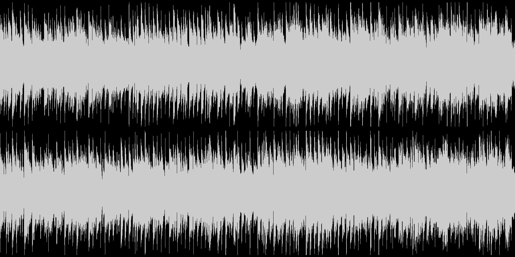 黄昏、オルガンとリコーダー ※ループ版の未再生の波形