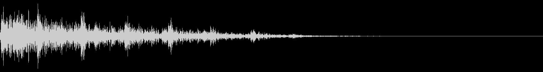 ホラー系アタック音4の未再生の波形