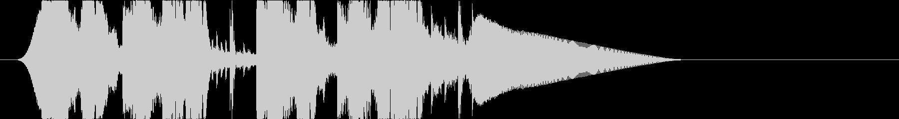 EDMトロピカルハウスなジングルの未再生の波形