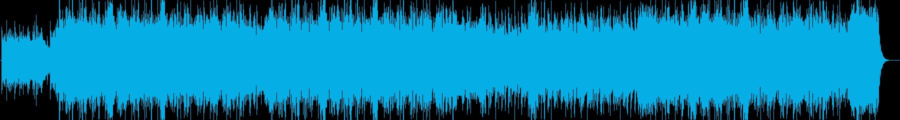 感動的なシンセサイザー・ピアノなどの曲の再生済みの波形