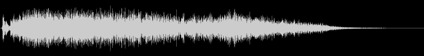 変調された乱流ザップ1の未再生の波形