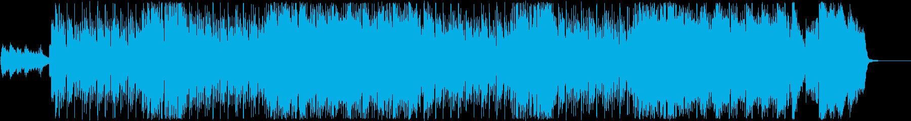 【アニメ】前進感のあるオープニングの再生済みの波形