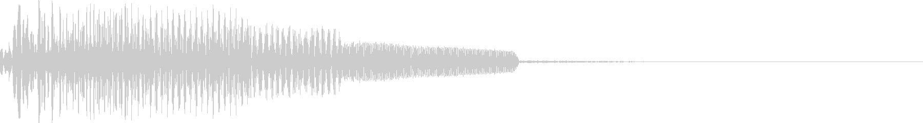 SF風 機械操作 選択音の未再生の波形