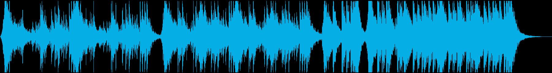 迫力あるシネマチックパーカッション04の再生済みの波形
