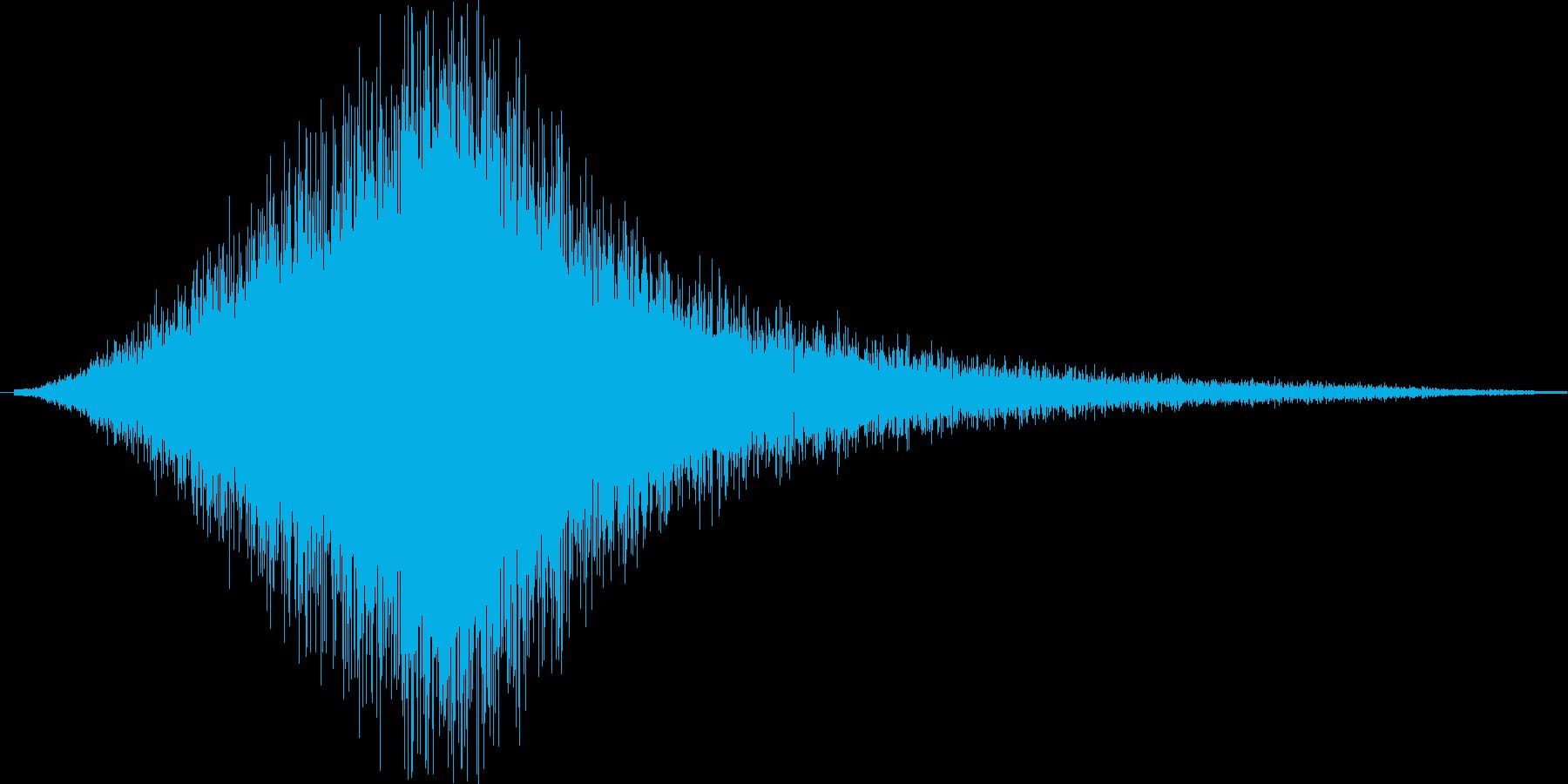 シュイィィ。ジャンプ・舞い降りる音の再生済みの波形