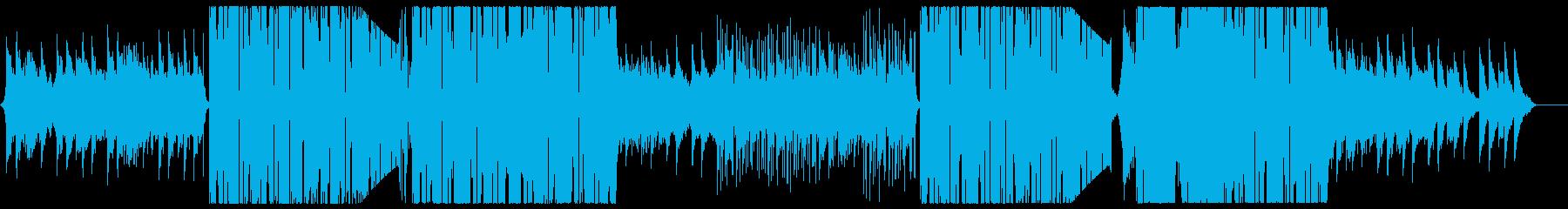 展開が激しい幻想的なEDMの再生済みの波形