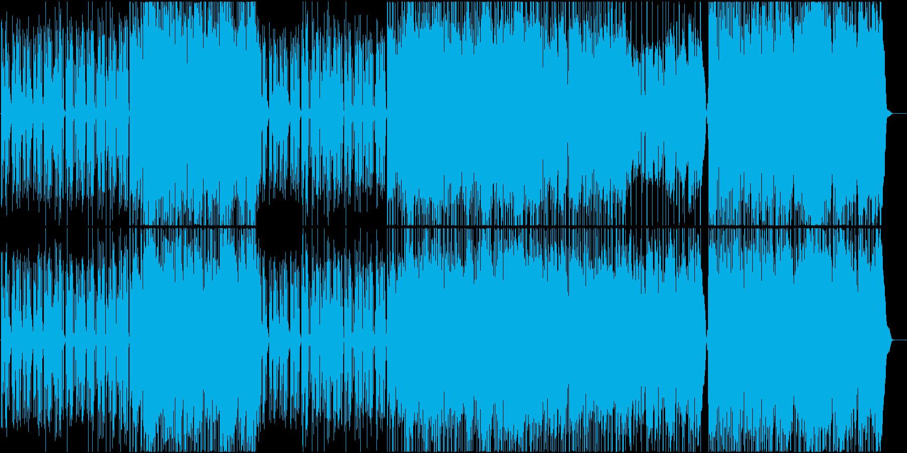 女性ボーカルの雨の似合うポップの再生済みの波形