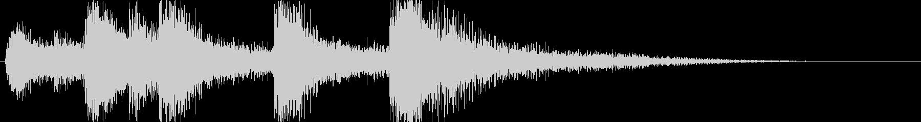 鎧騎士オーケストラ城ジングルアイキャッチの未再生の波形