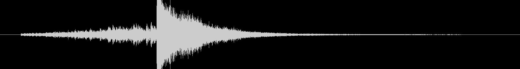 ドラムロール 短め シンバルの未再生の波形