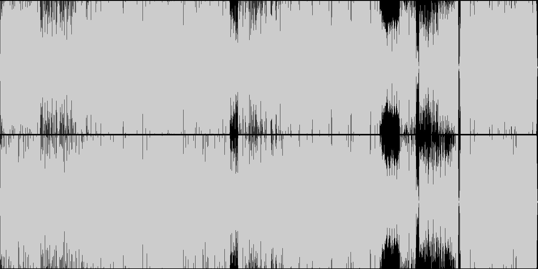 エッジの効いたお洒落なファンクロックの未再生の波形