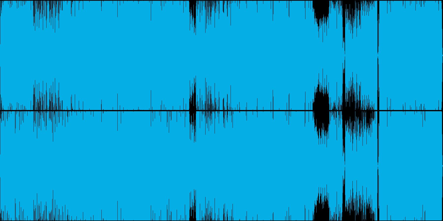 エッジの効いたお洒落なファンクロックの再生済みの波形