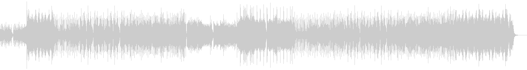 教会のような雰囲気の3拍子のハロウィン曲の未再生の波形