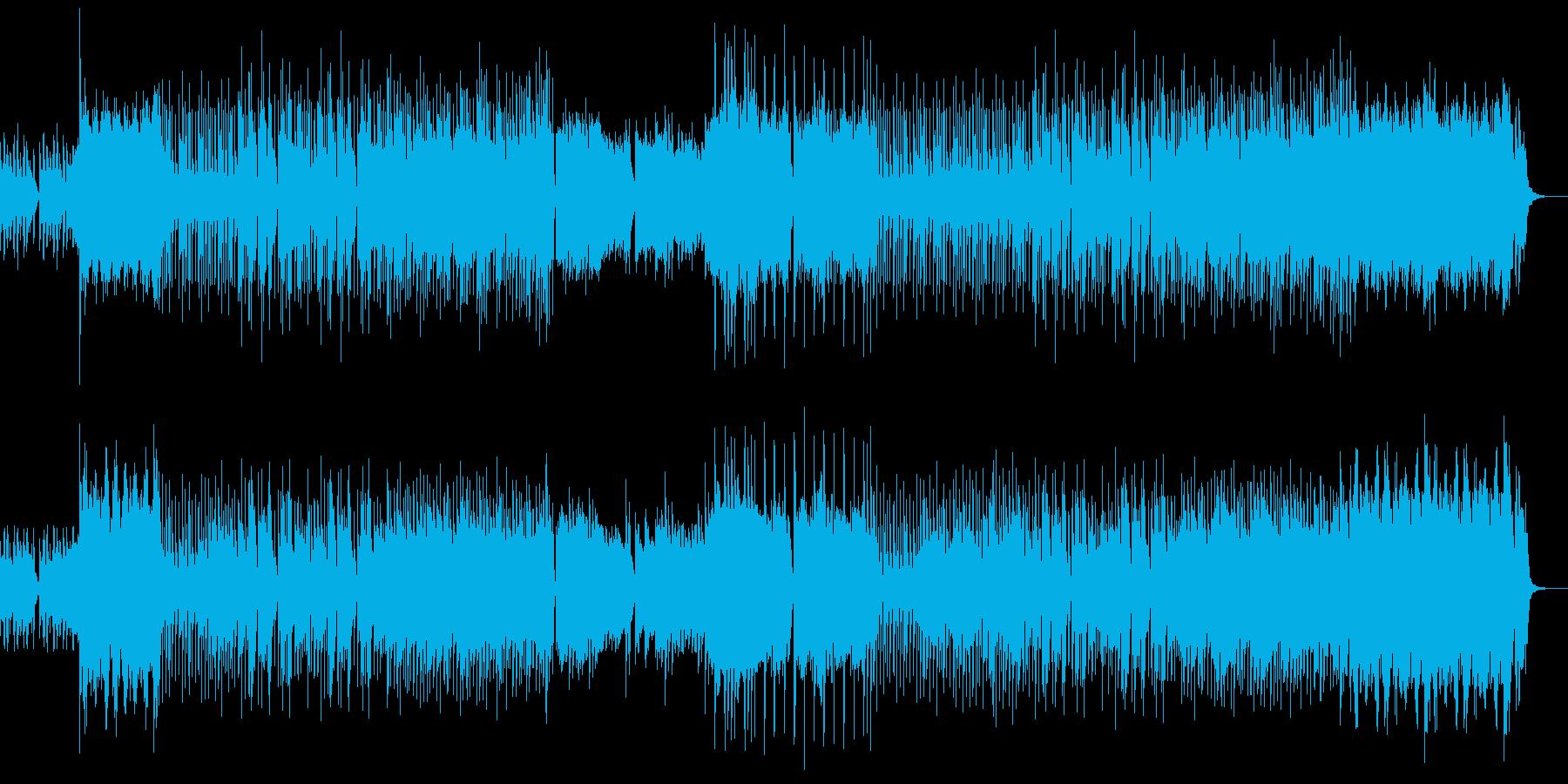 教会のような雰囲気の3拍子のハロウィン曲の再生済みの波形