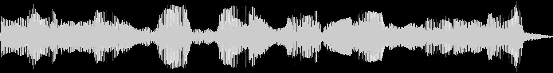 電子シンセ波:中速、低周波宇宙ドロ...の未再生の波形