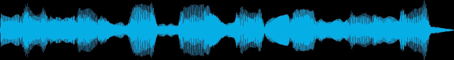電子シンセ波:中速、低周波宇宙ドロ...の再生済みの波形