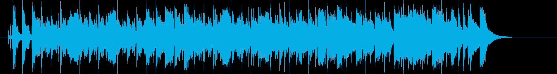 軽快で明るく可憐なシンセポップジングルの再生済みの波形