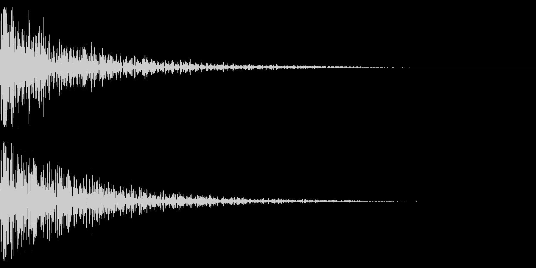 ドーン-11-1(インパクト音)の未再生の波形
