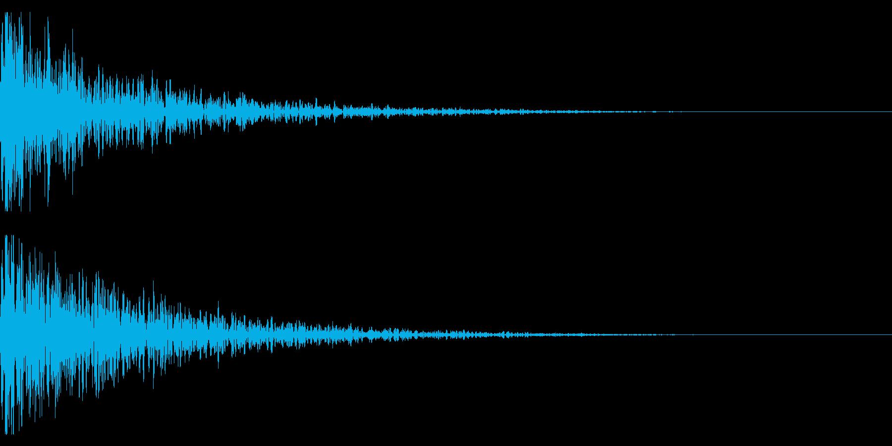 ドーン-11-1(インパクト音)の再生済みの波形