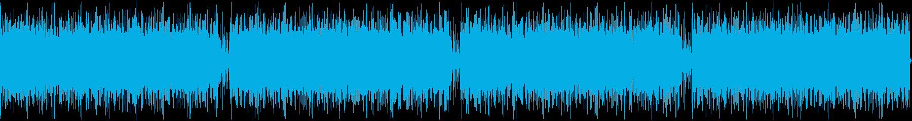 シネマティックトレーラー風の緊迫感ある曲の再生済みの波形