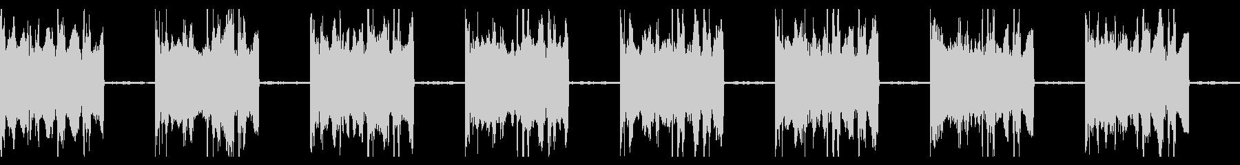 シンプルなエラー・アラート音の未再生の波形
