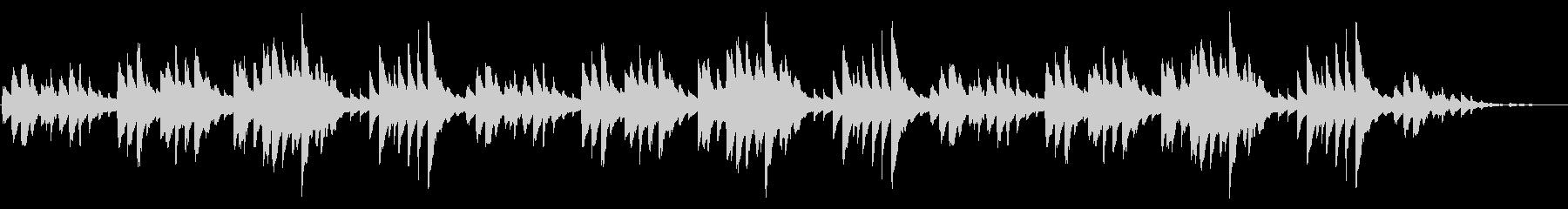童謡「ふるさと」シンプルなピアノソロの未再生の波形