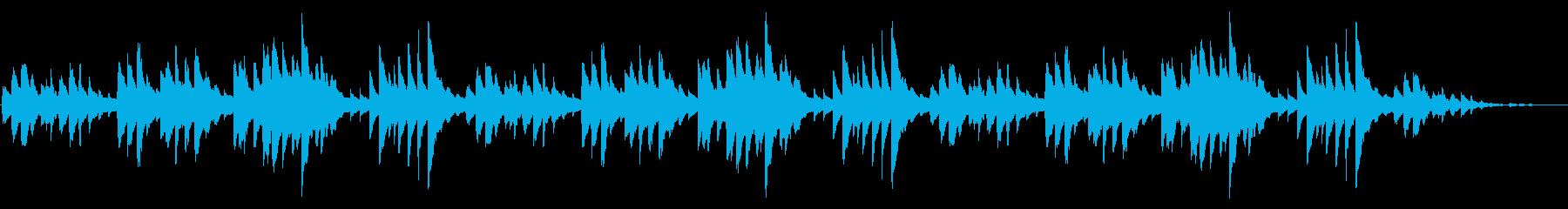 童謡「ふるさと」シンプルなピアノソロの再生済みの波形