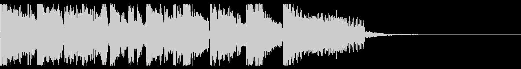 ポップなEDM系ジングルミュージック2の未再生の波形