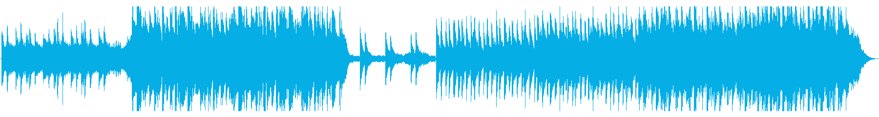 ニューエイジ風で爽やかな開放感ある楽曲の再生済みの波形