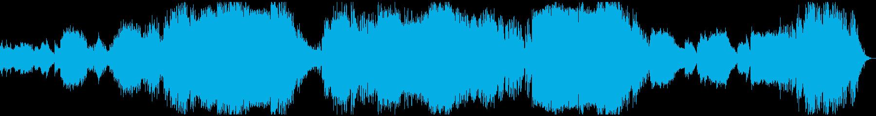 澄んだ空気が充満しているような空間の音楽の再生済みの波形