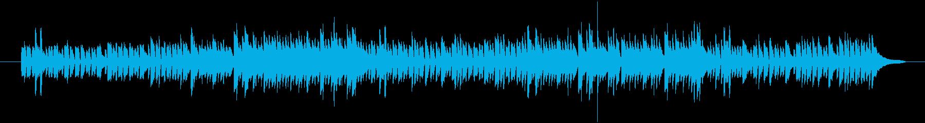 軽快なピアノの練習曲の再生済みの波形