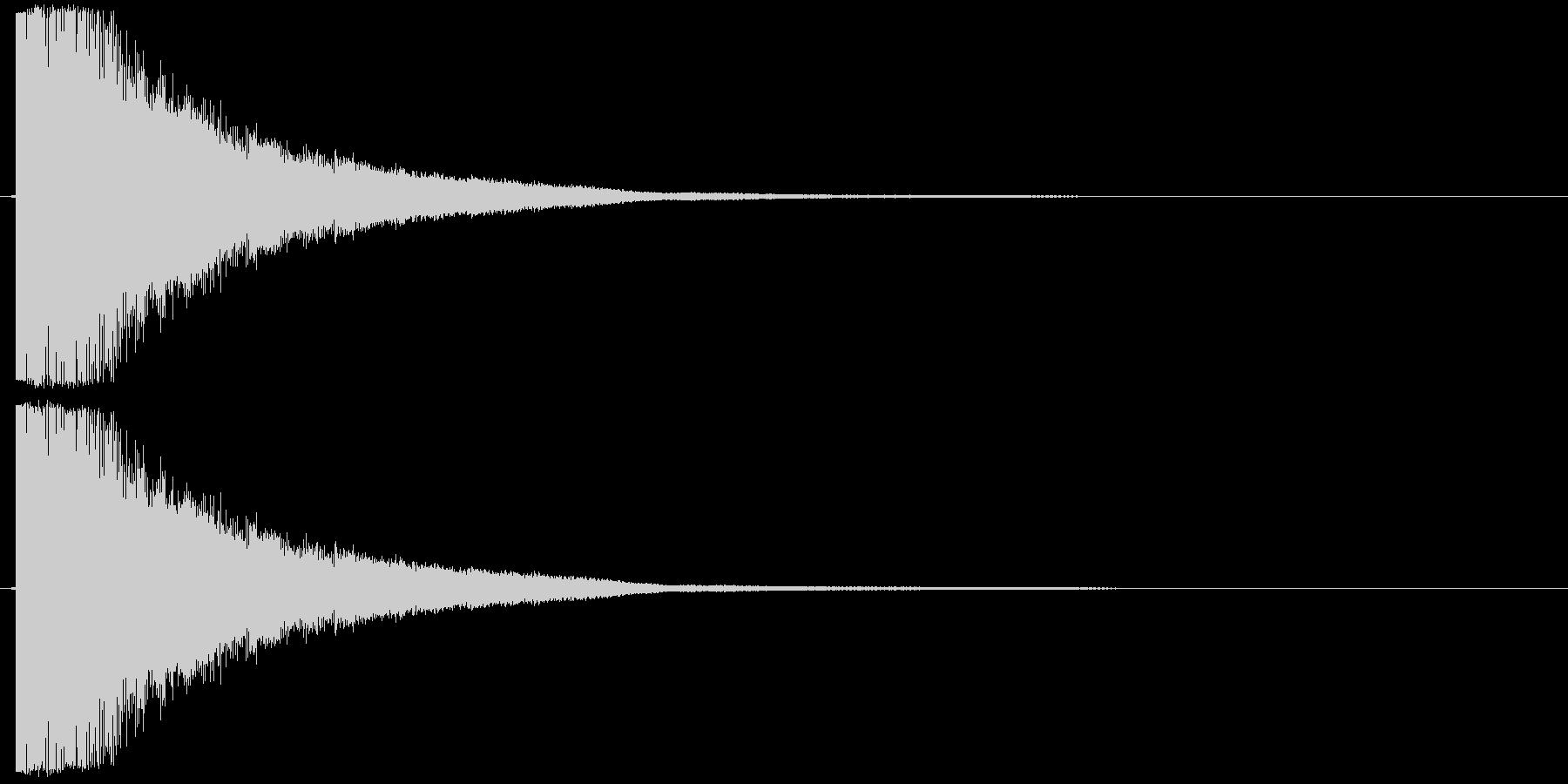 シャキーン01(剣、刀がぶつかる音)の未再生の波形