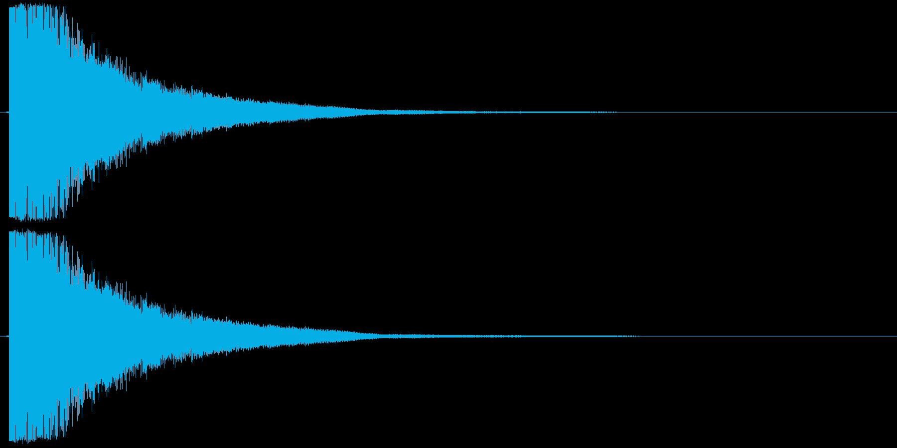 シャキーン01(剣、刀がぶつかる音)の再生済みの波形