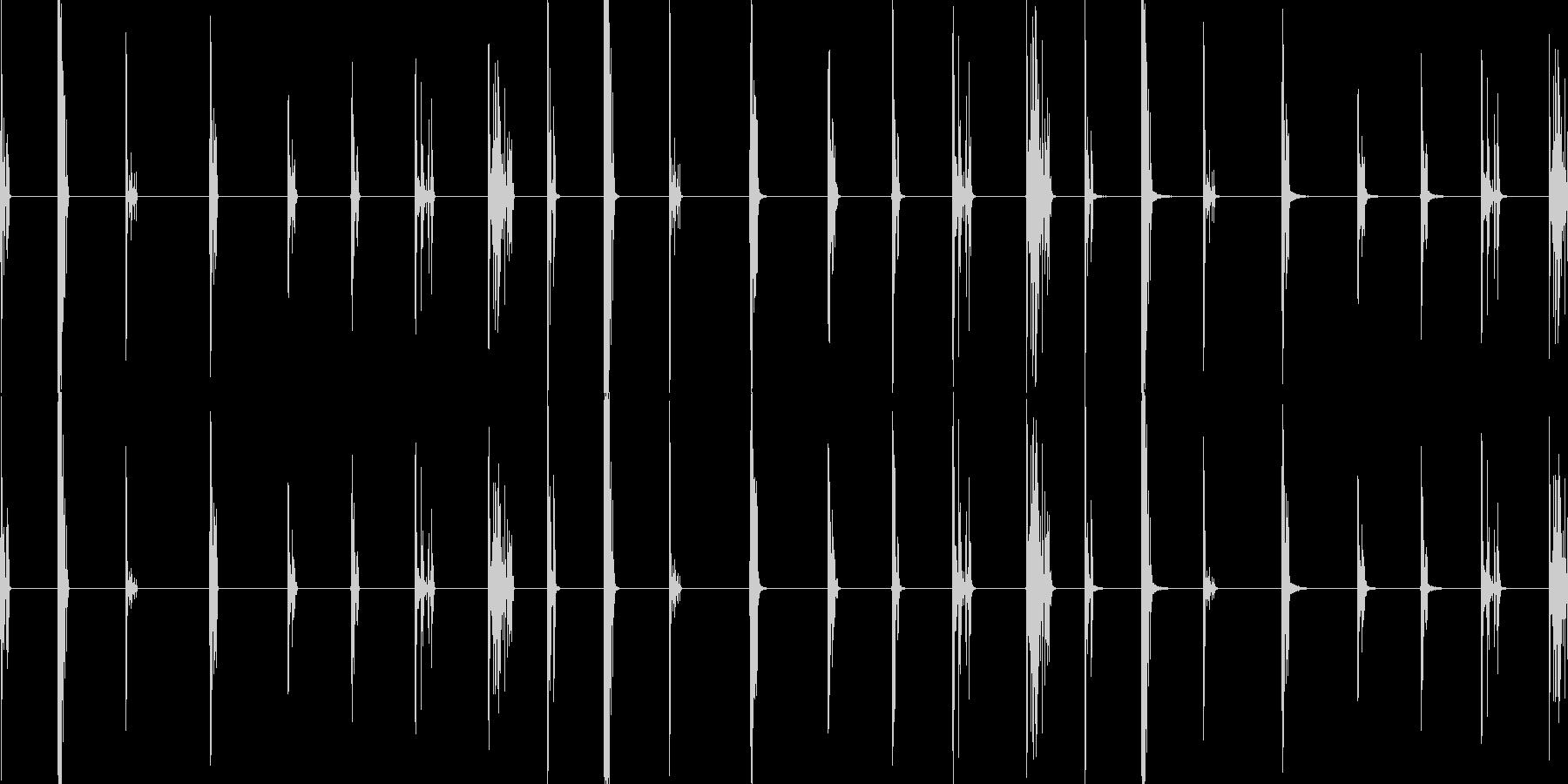 ガラスドロップ、3バージョンX 3...の未再生の波形