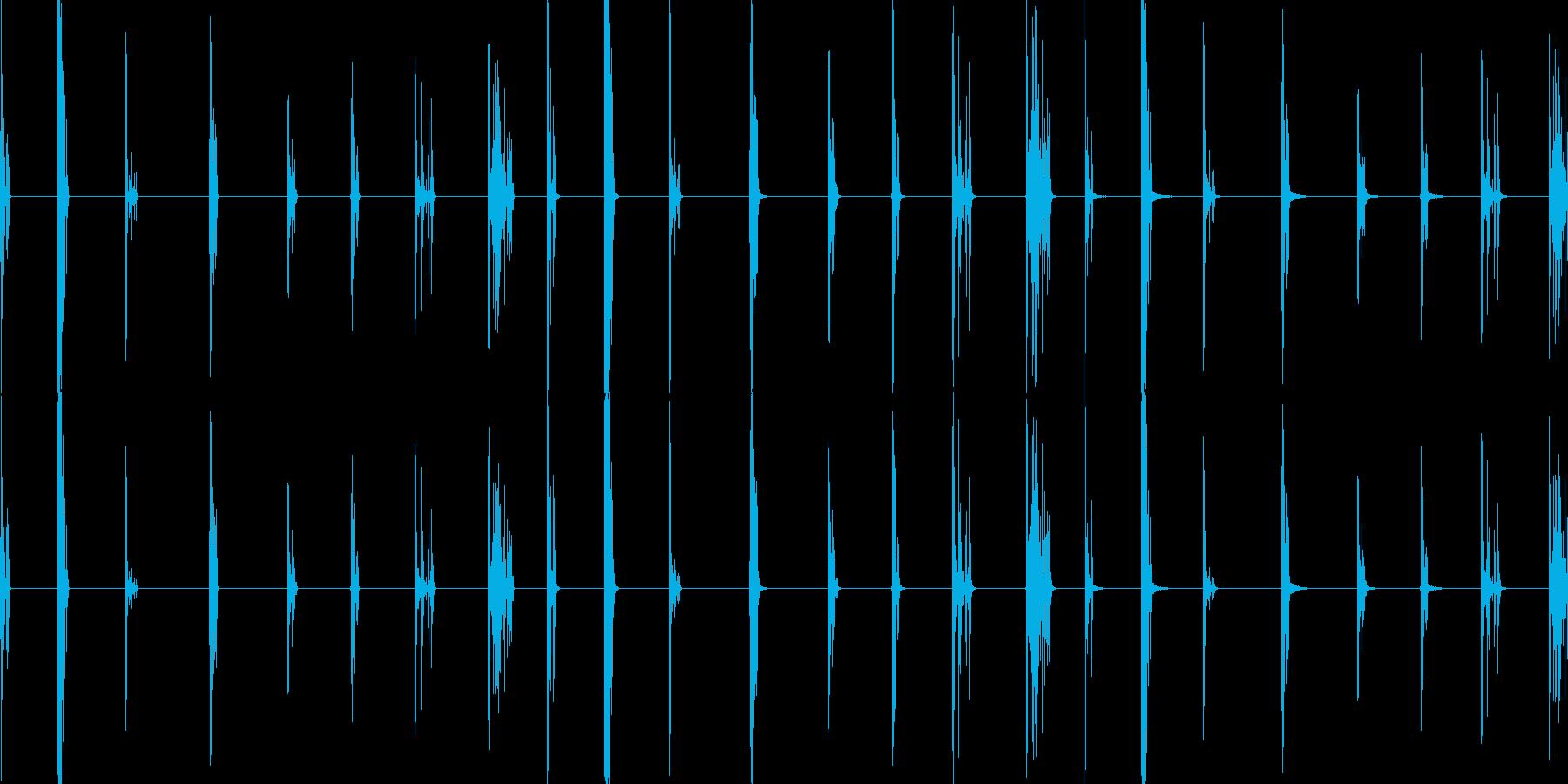 ガラスドロップ、3バージョンX 3...の再生済みの波形