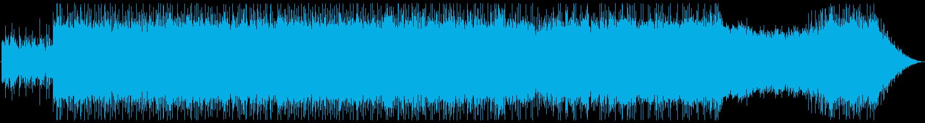 重心の低い、シリアスでハードな曲の再生済みの波形
