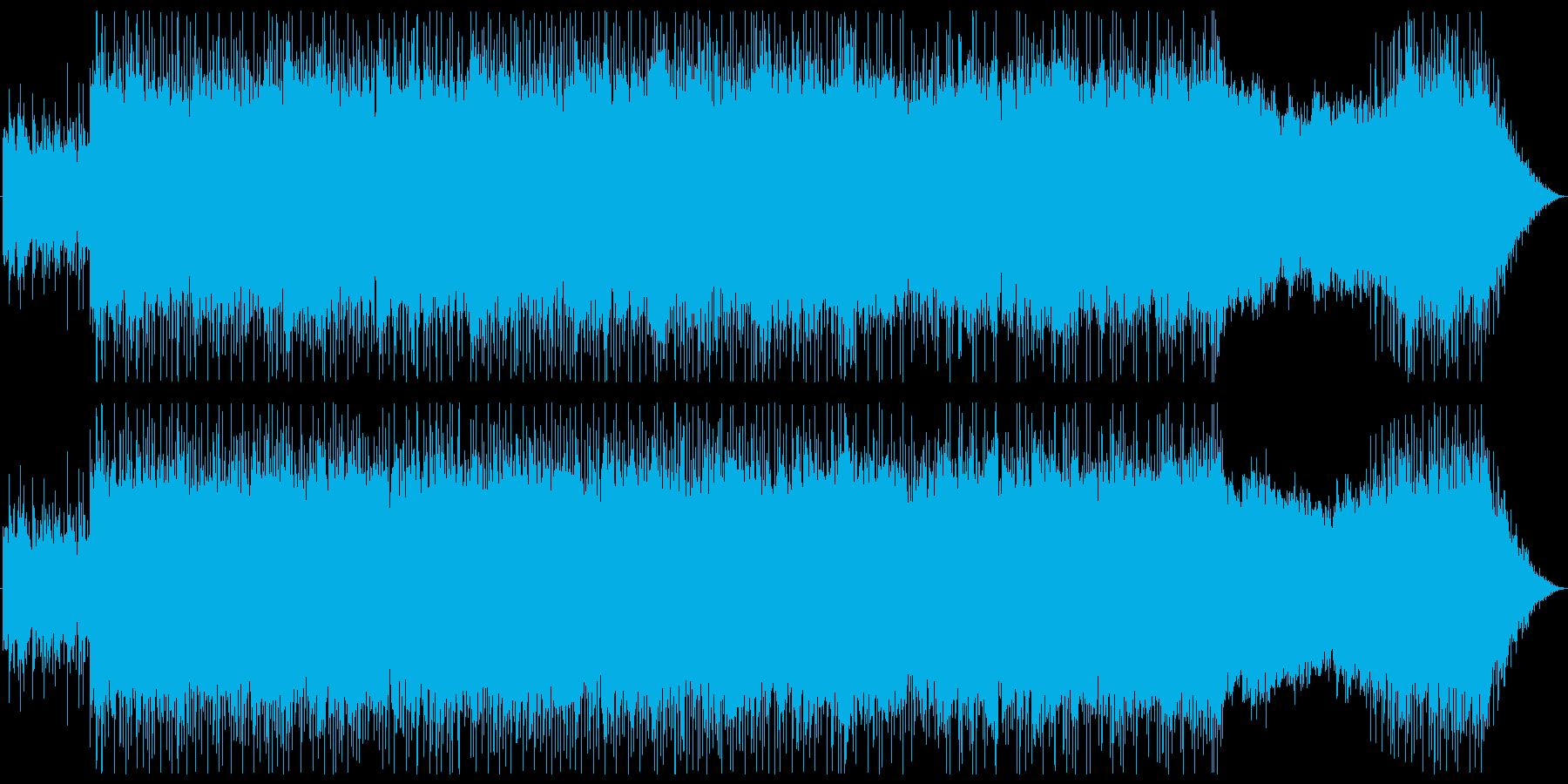 重心の低い、シリアスでハードなBGMの再生済みの波形