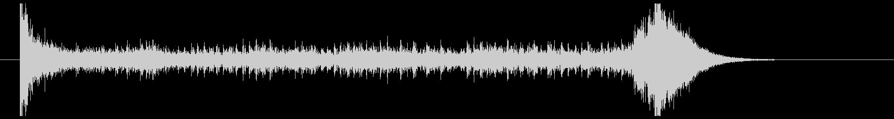 ティンパニーロール_シンバルあり(8秒)の未再生の波形