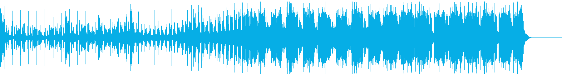 楽しい疾走感のあるEDMの再生済みの波形