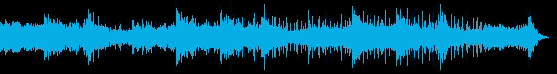 シネマティックなテクスチャドローンの再生済みの波形