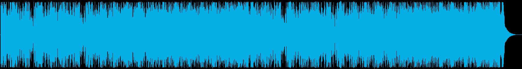 激しくダークなエレクトロDUBSTEPの再生済みの波形