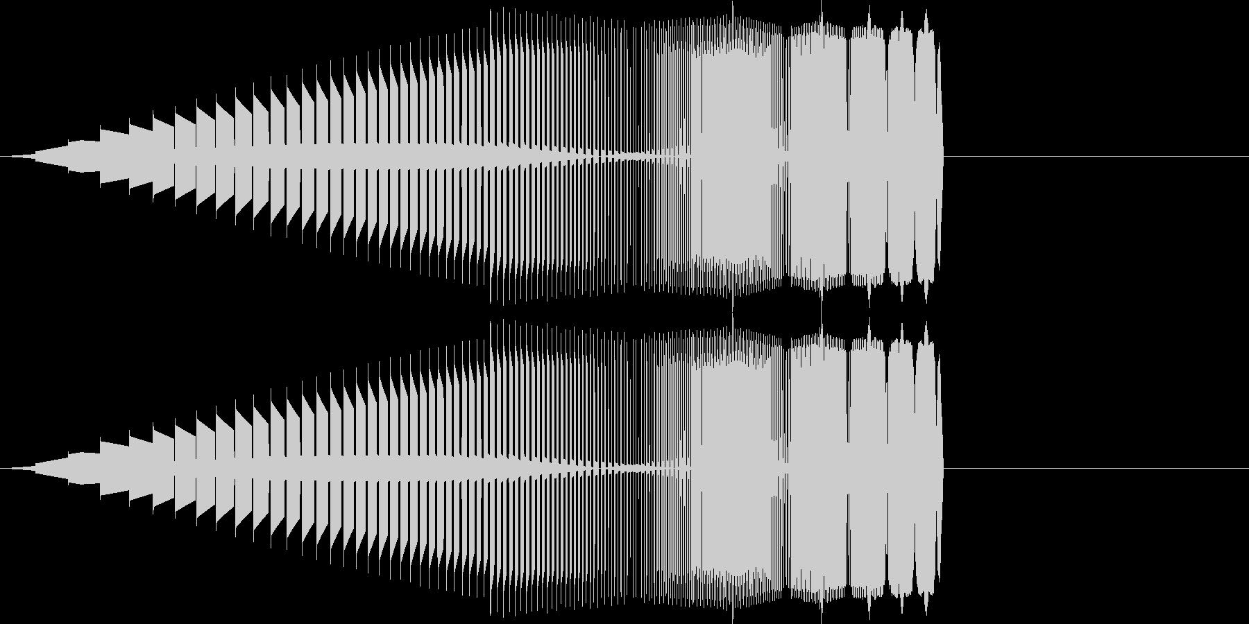 プワッ(パワーアップ/ファミコン/UPの未再生の波形