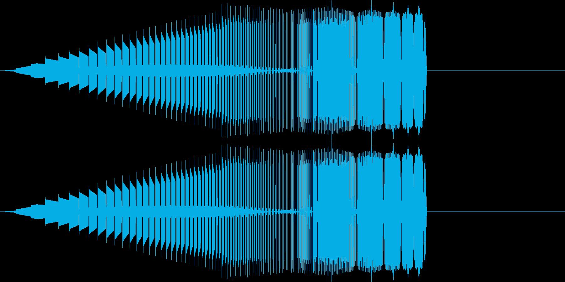 プワッ(パワーアップ/ファミコン/UPの再生済みの波形