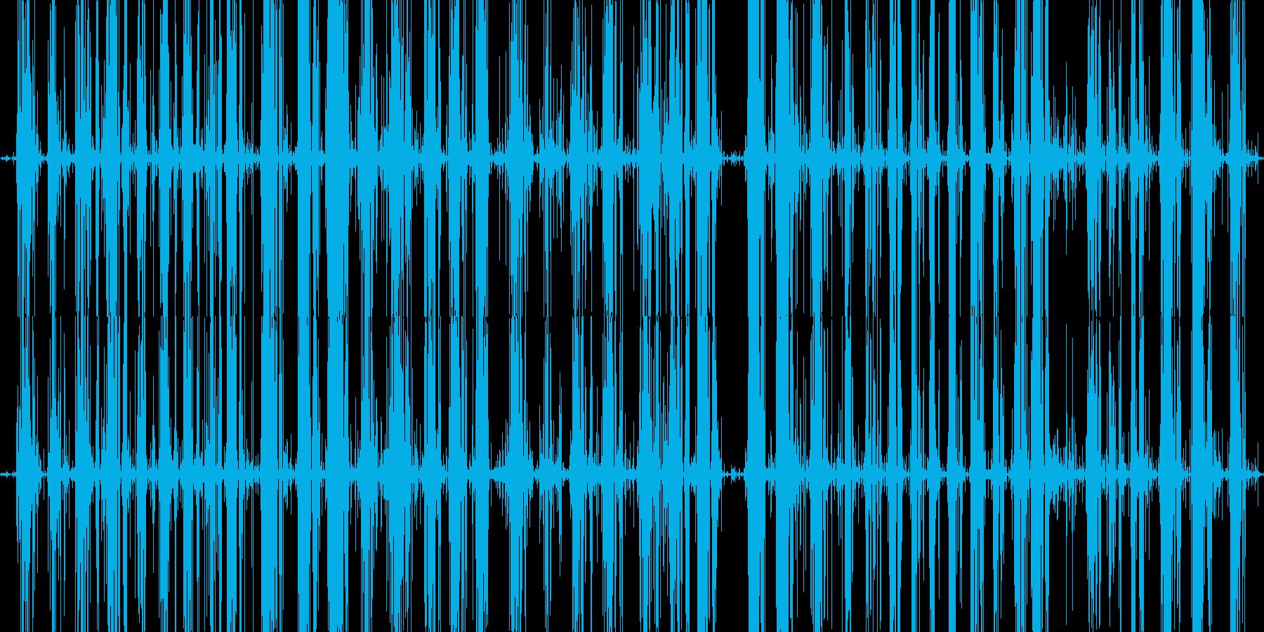 パチパチスライムを触る音の再生済みの波形