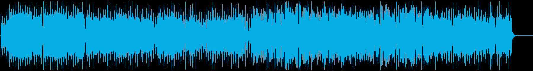 トイピアノとやわらかい音色の古いサックスの再生済みの波形